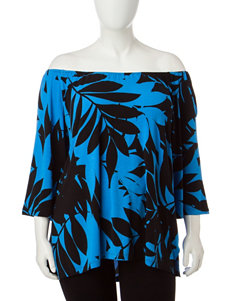 Ruby Road Dark Blue Shirts & Blouses