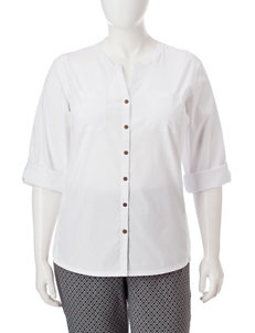 Rebecca Malone Plus-size Dual Front Pocket Top