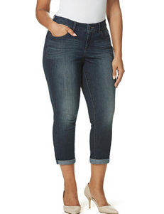 Vintage American Blues Plus-size Cropped Jeans