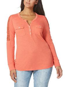 Vintage America Blues Orange Shirts & Blouses