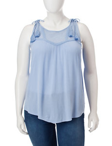 Democracy Plus-size Tassel Accented Tank Top