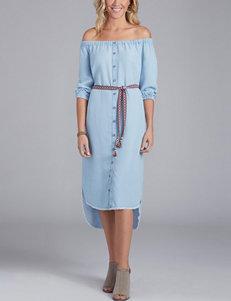 Democracy Plus-size Hi-Lo Off-the-Shoulder Shift Dress