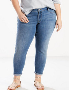 Levi's Plus-size 711 Cropped Skinny Jeans