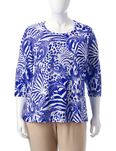 Cathy Daniels Royal Blue Shirts & Blouses