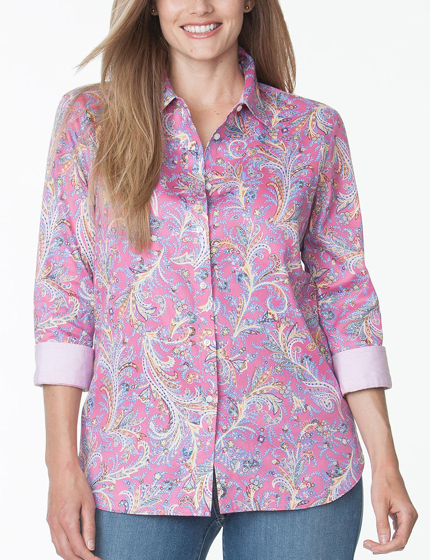 Chaps Pink Multi Shirts & Blouses