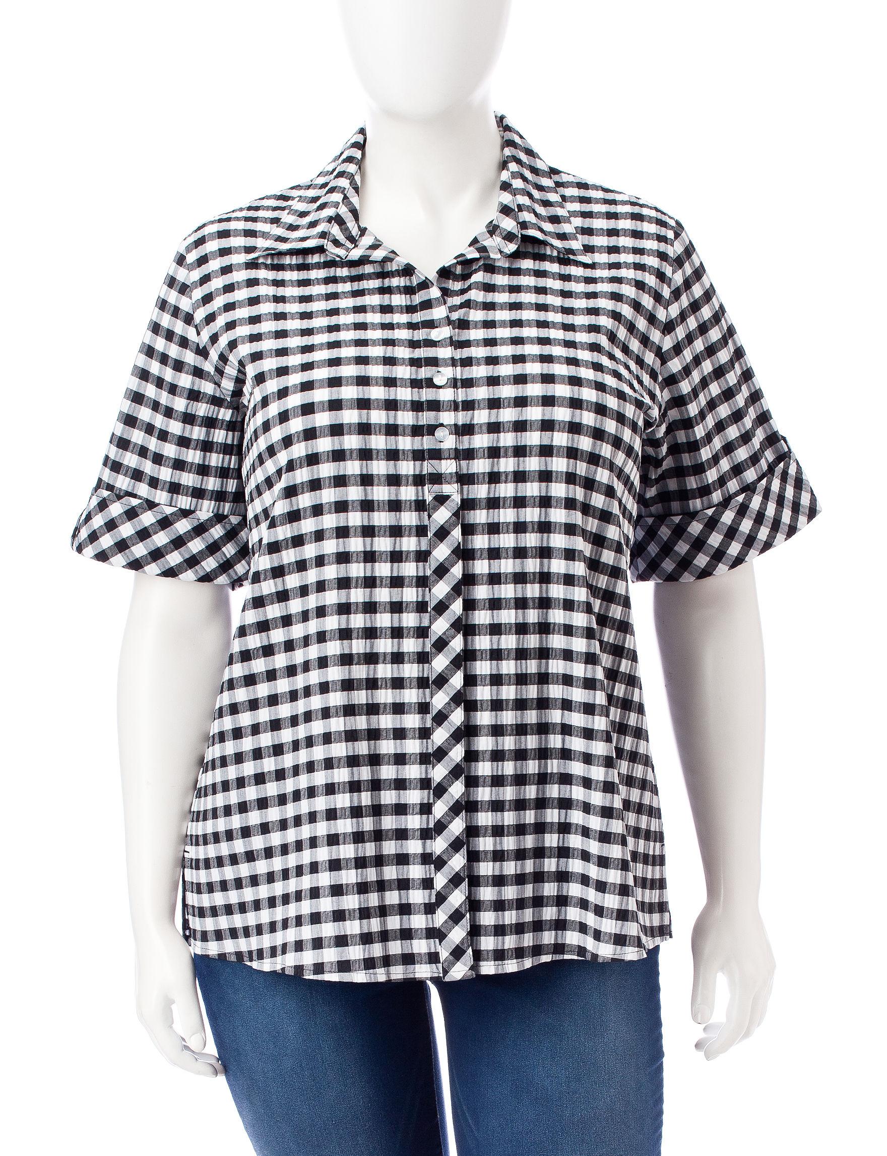 Rebecca Malone Black/ White Shirts & Blouses
