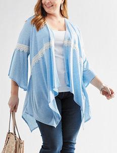 Hannah Plus-size Lace Trim Knit Cardigan