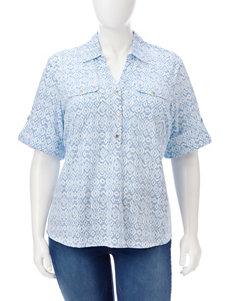 Rebecca Malone Plus-size Novelty Buttoned Top