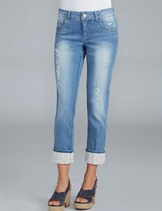 Democracy Plus-size Crochet Skinny Girlfriend Jeans