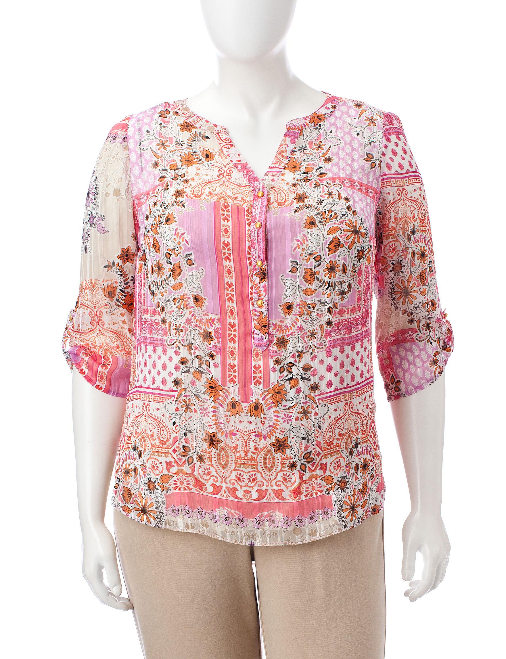 Sara Michelle Pink Shirts & Blouses
