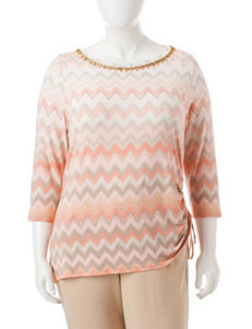 Ruby Road Plus-size Side-Ruched Top