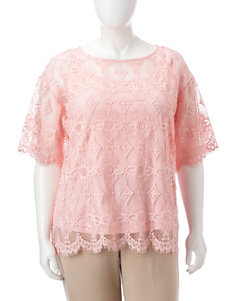 Ruby Road Plus-size Lace Top