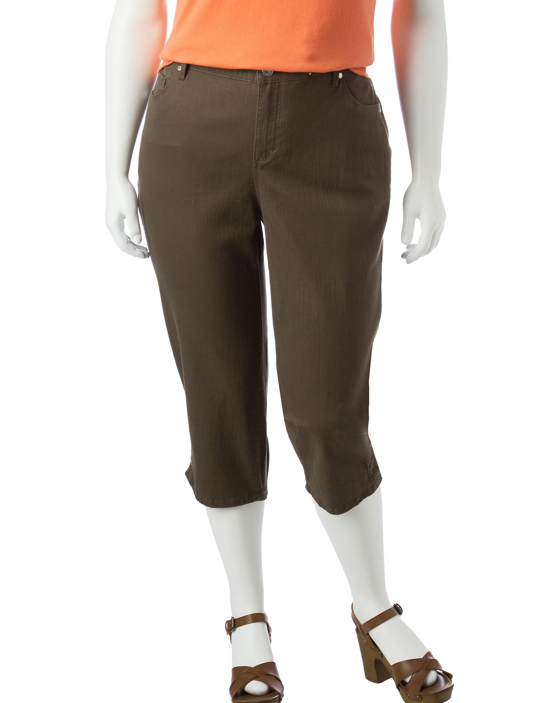 Gloria Vanderbilt Plus-size Jordyn Embellished Capri Pants | Stage ...