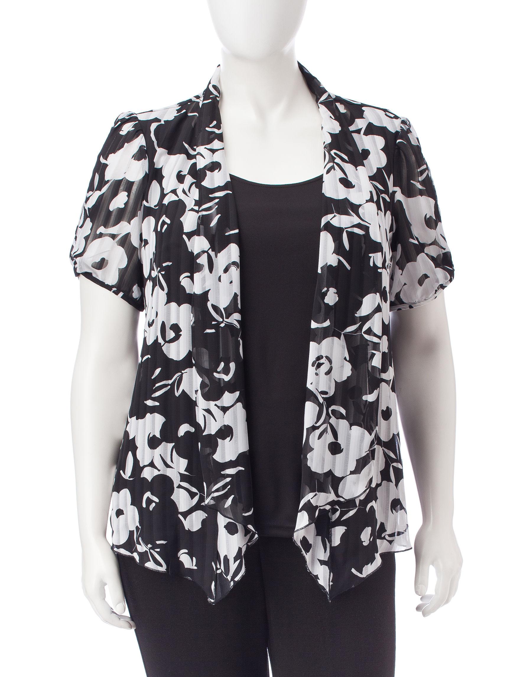 Sara Michelle Black/ White Shirts & Blouses