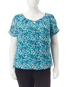 Sara Michelle Blue / Aqua Shirts & Blouses