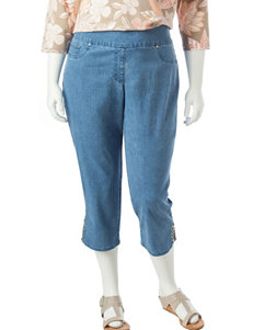 Ruby Road Blue Denim Capris & Crops