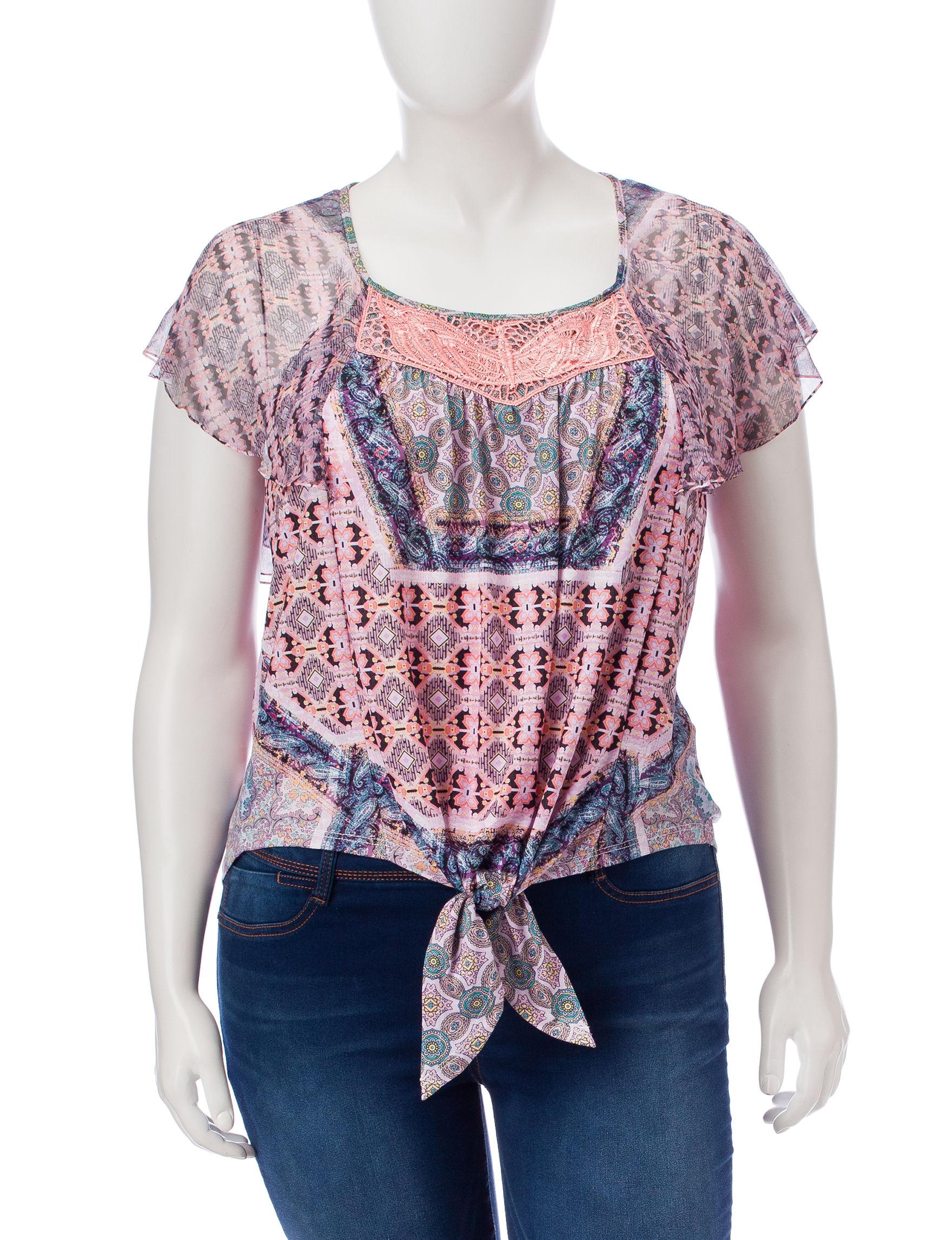 Energe Pink Multi Shirts & Blouses