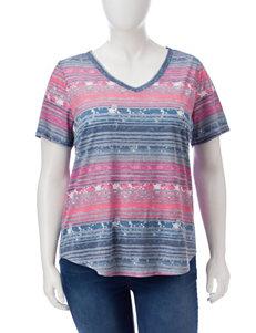 Signature Studio Fuschia Shirts & Blouses