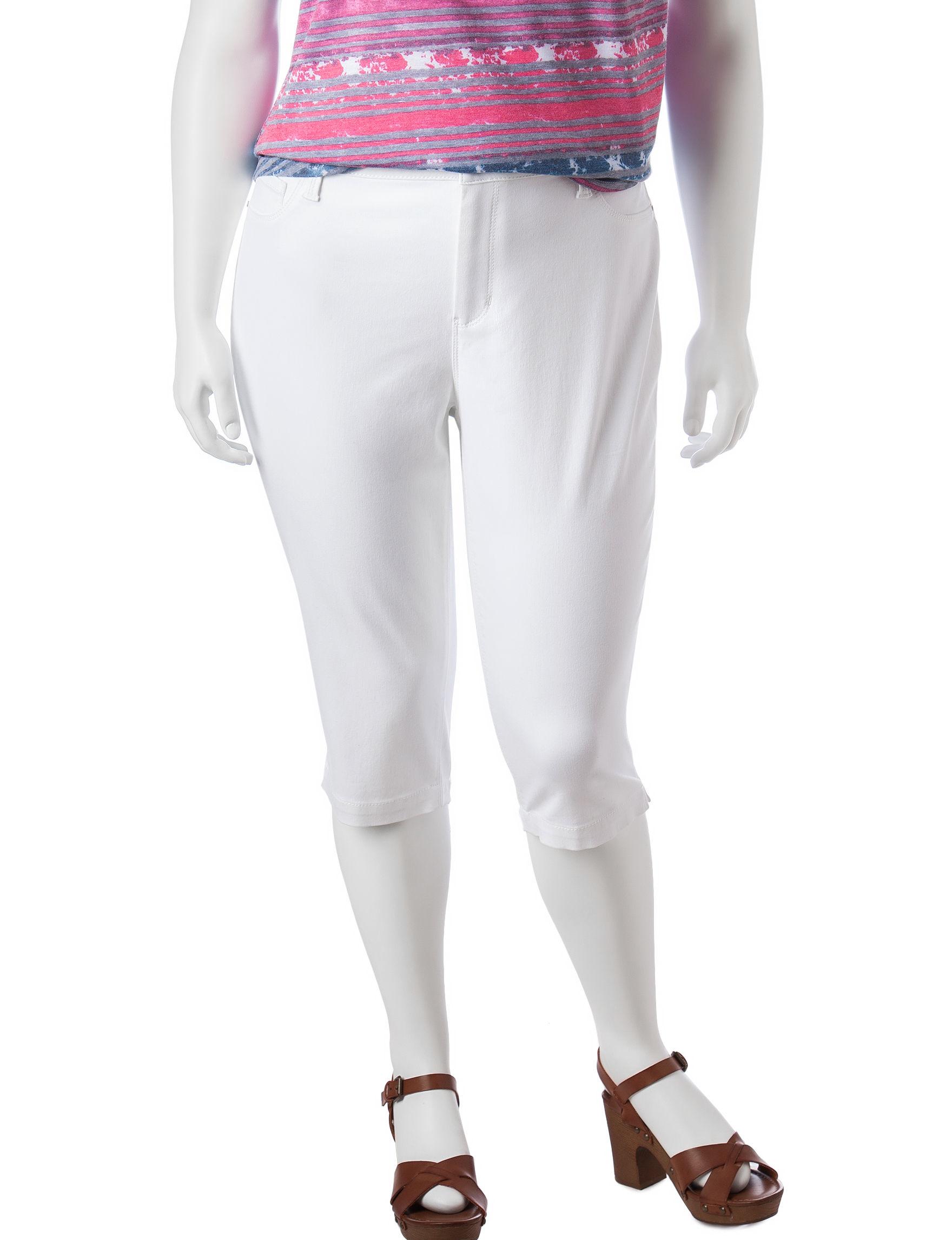 Signature Studio White Denim Shorts