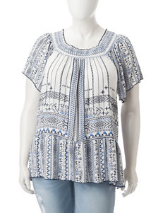 Signature Studio Blue Combo Shirts & Blouses