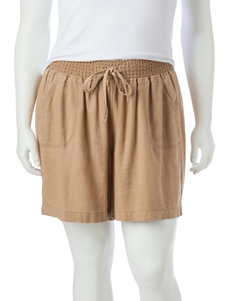 Hannah Plus-size Linen Shorts
