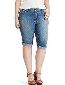 Chaps Plus-size Bermuda Denim Shorts