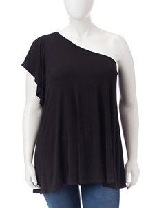 Signature Studio Black Shirts & Blouses