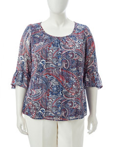 Sara Michelle Blue / Multi Shirts & Blouses