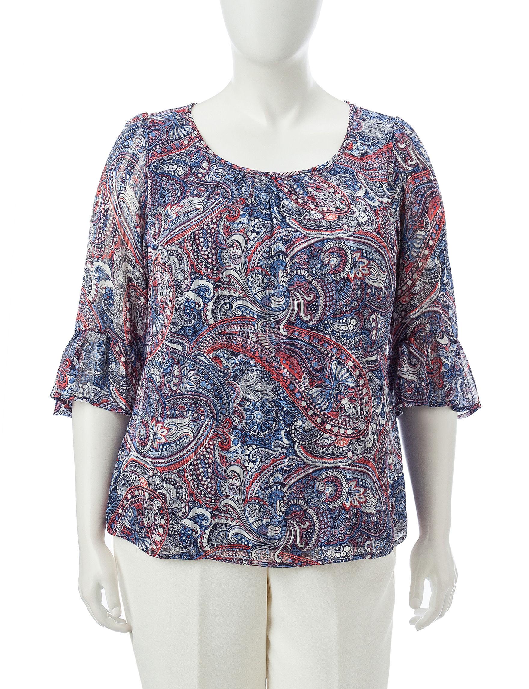 Sara Michelle Blue / Multi Shirts & Blouses