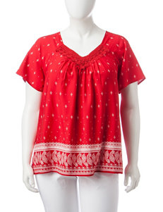 Rebecca Malone Red / White Shirts & Blouses