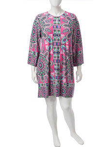 Ruby Road Pink Multi Everyday & Casual Shift Dresses