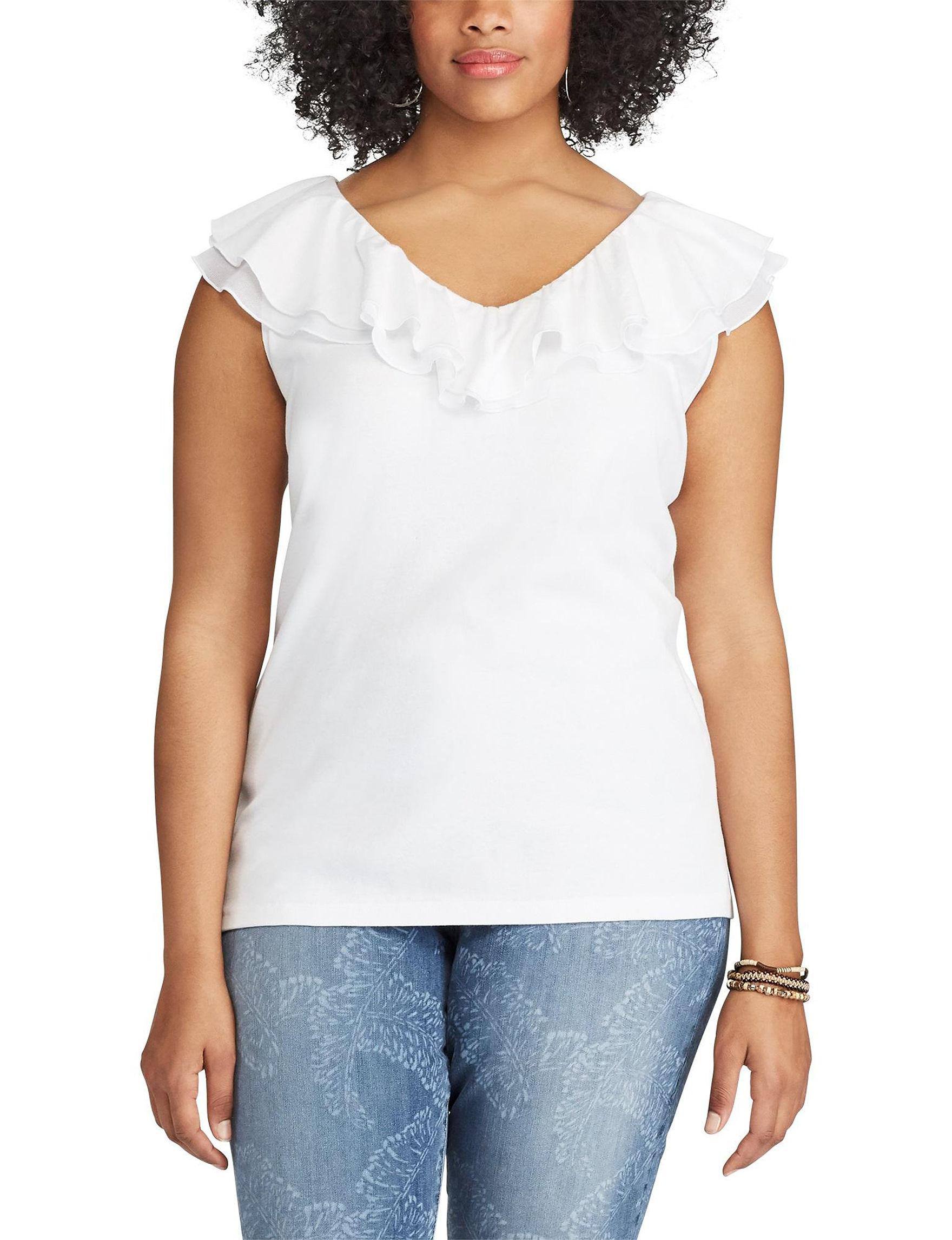 Chaps White Shirts & Blouses