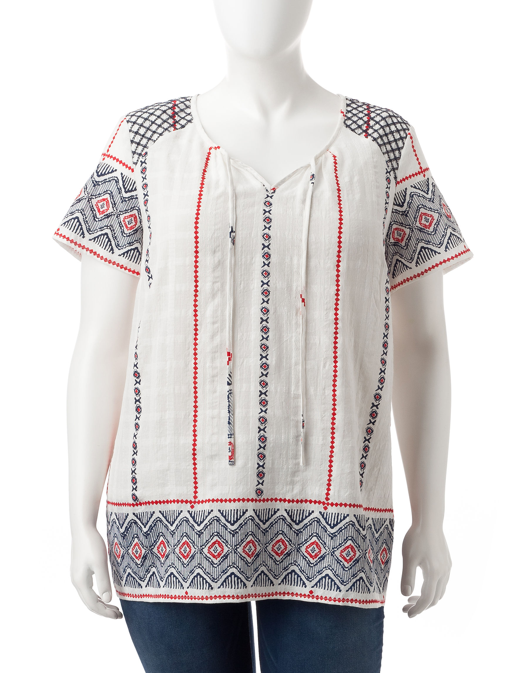 Hannah White Multi Shirts & Blouses