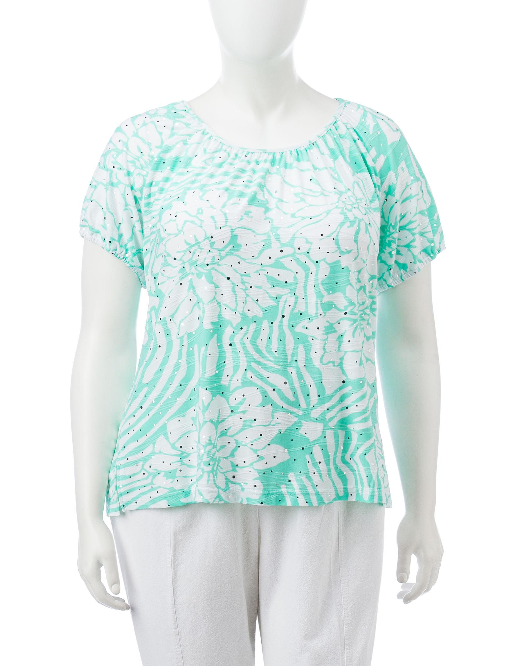 Cathy Daniels Green Shirts & Blouses