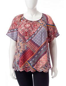 Valerie Stevens Blue / Orange Shirts & Blouses