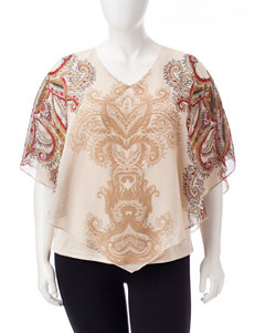 Sara Michelle Beige Shirts & Blouses