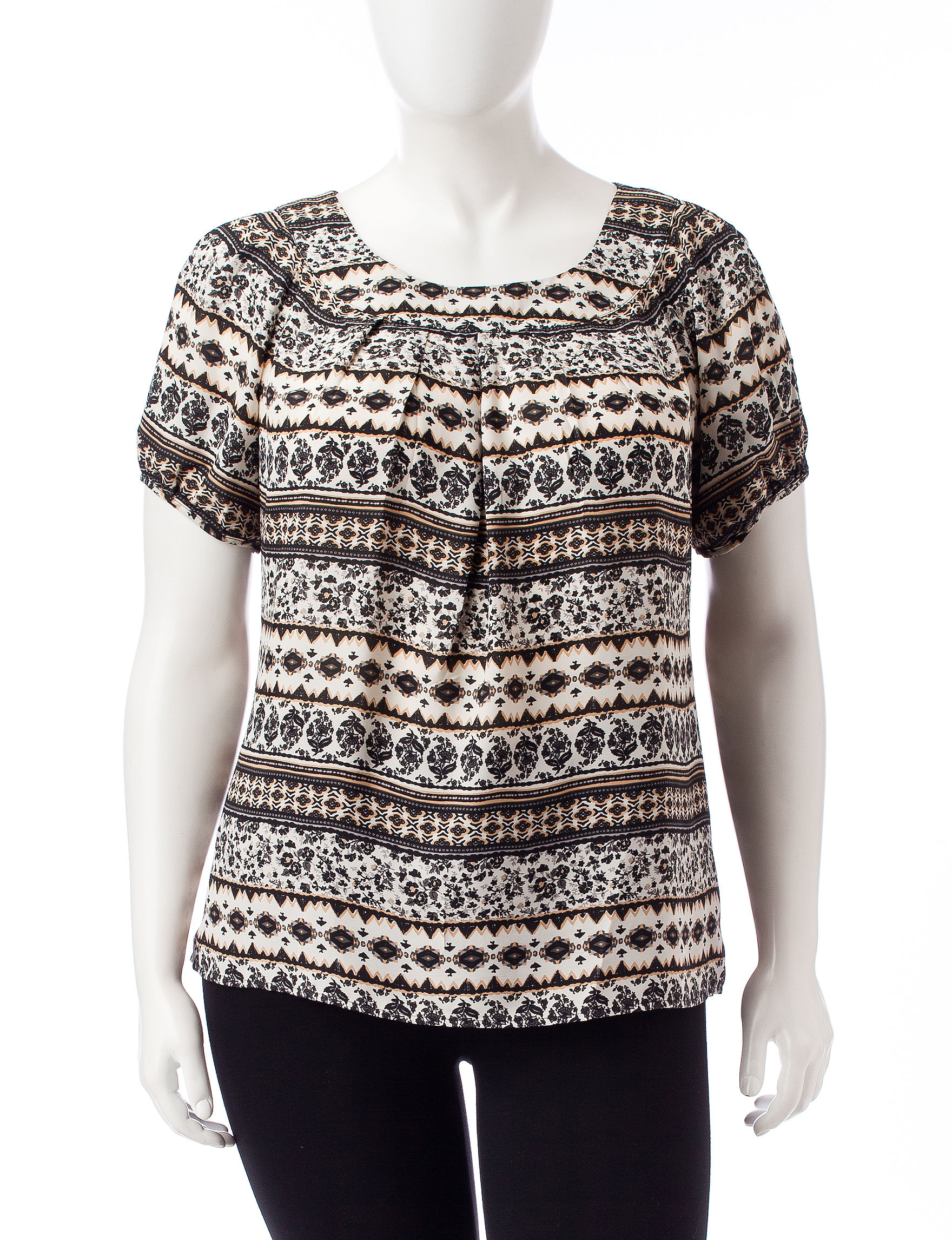 Sara Michelle Grey Multi Shirts & Blouses