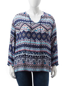 Hannah Blue Multi Shirts & Blouses