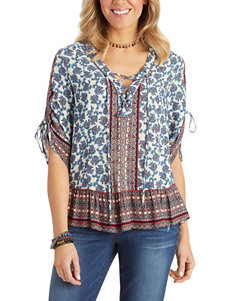 Democracy Blue Multi Shirts & Blouses
