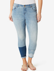 Vintage America Blues Plus-size Angie Patchwork Ankle Jeans