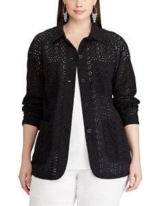 Chaps Black Lightweight Jackets & Blazers