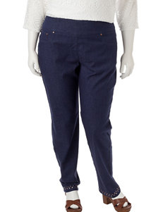 Ruby Road Plus-size Pull-On Denim Capris