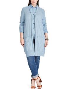 Chaps Blue Cardigans Shirts & Blouses