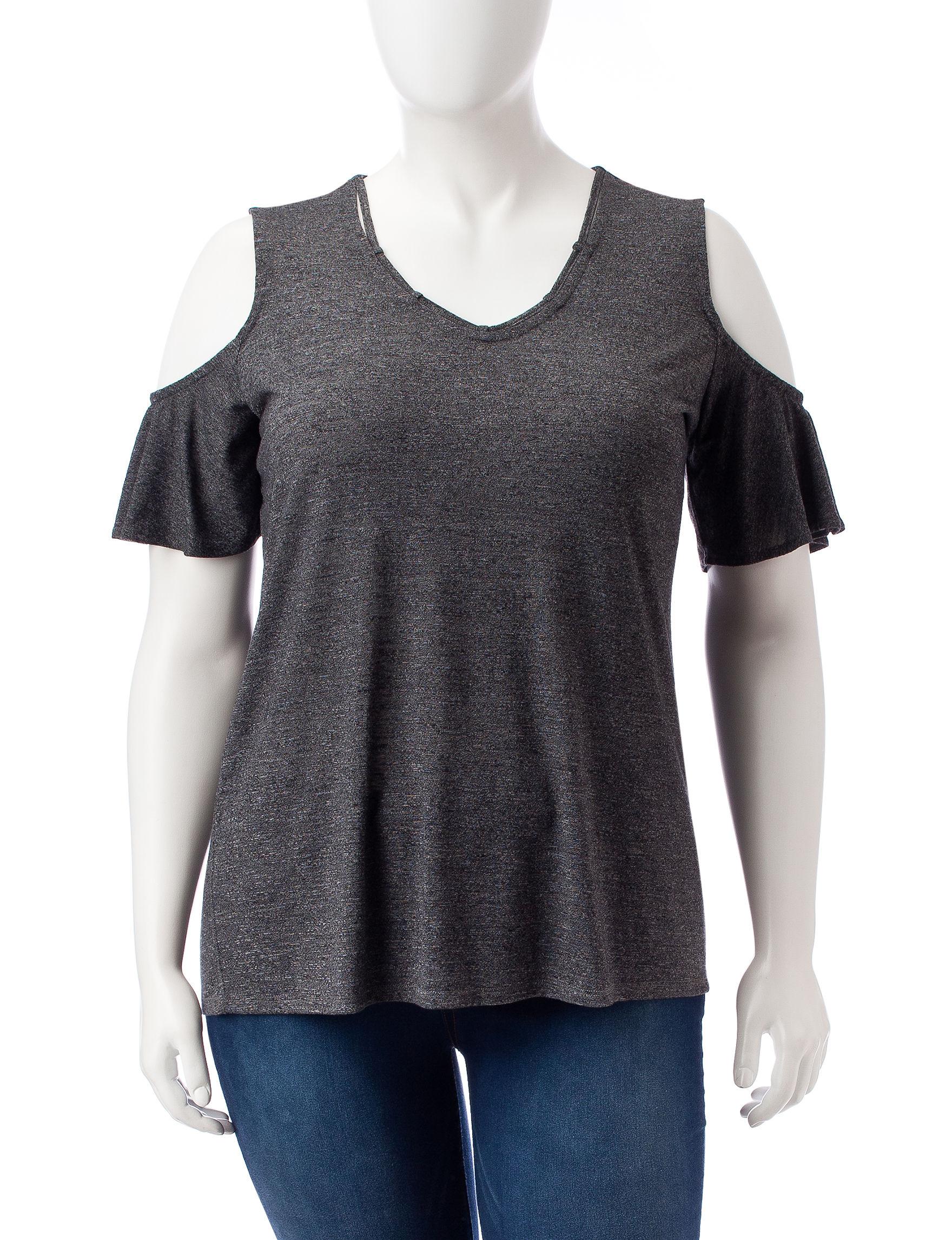 Signature Studio Dark Grey Shirts & Blouses
