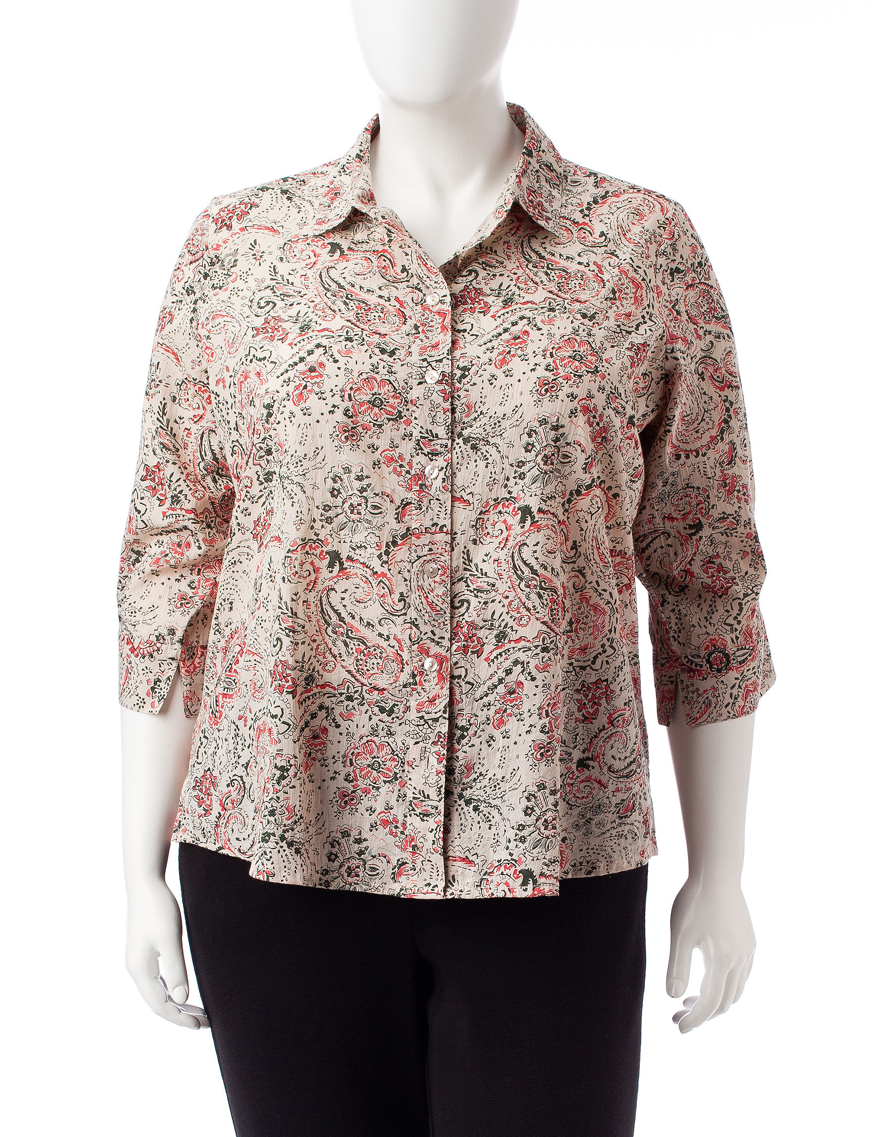 Rebecca Malone Pink / Green Shirts & Blouses
