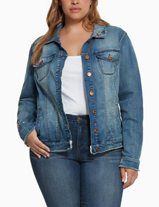 Vintage America Blues Plus-size Embroidered Denim Jacket