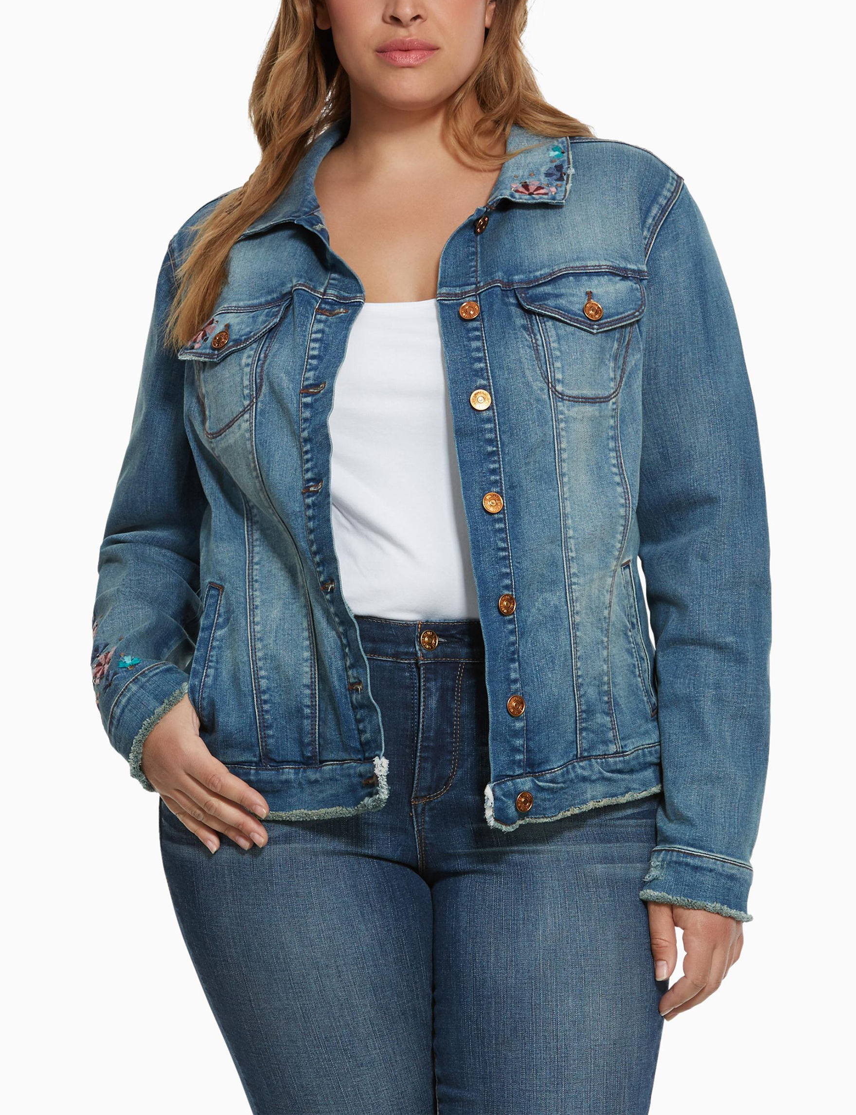 Vintage America Blues Blue Denim Jackets