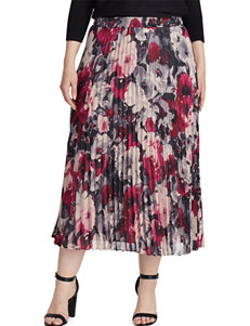 Chaps Plus-size Floral Pleated Skirt