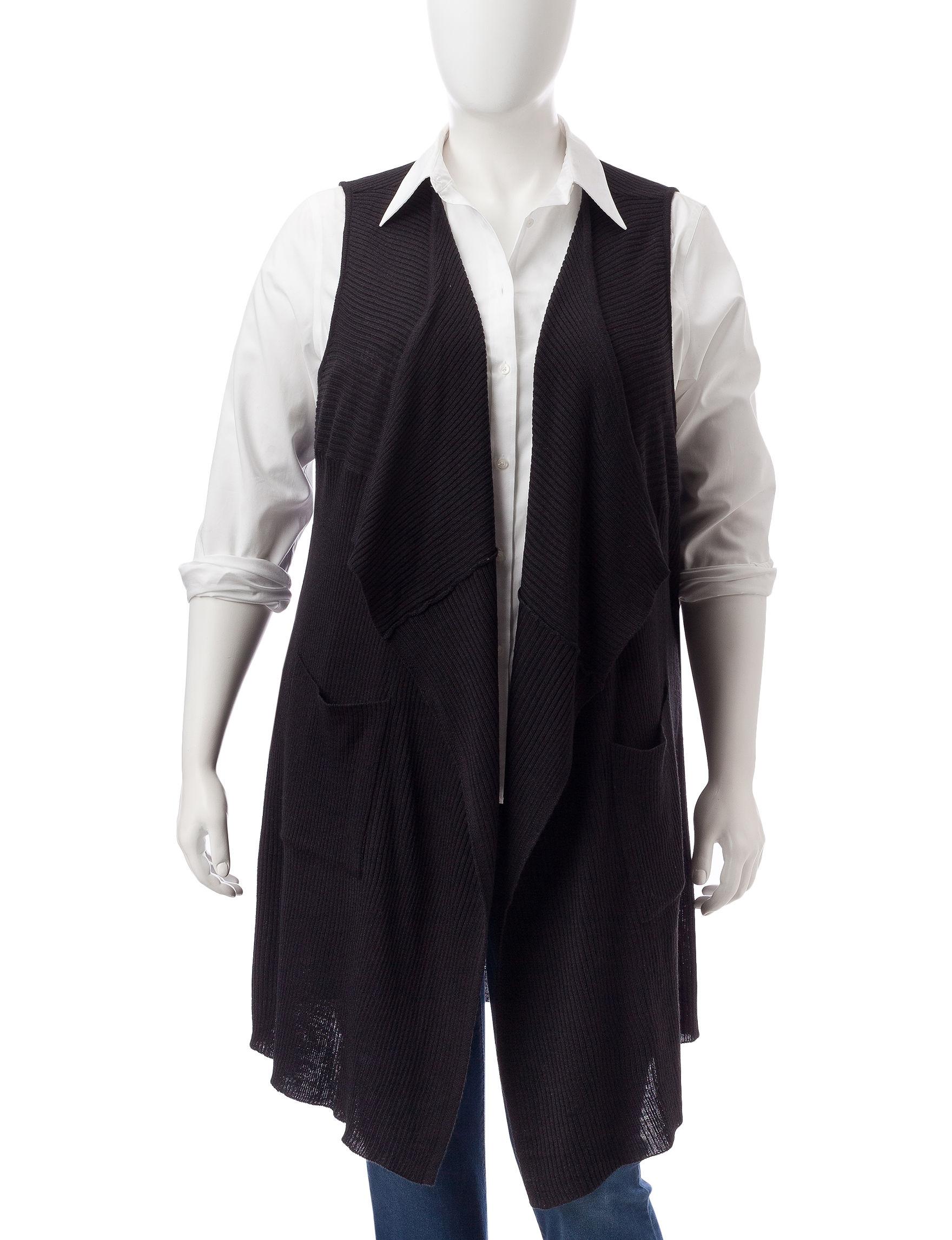 Signature Studio Black Sweaters Vests