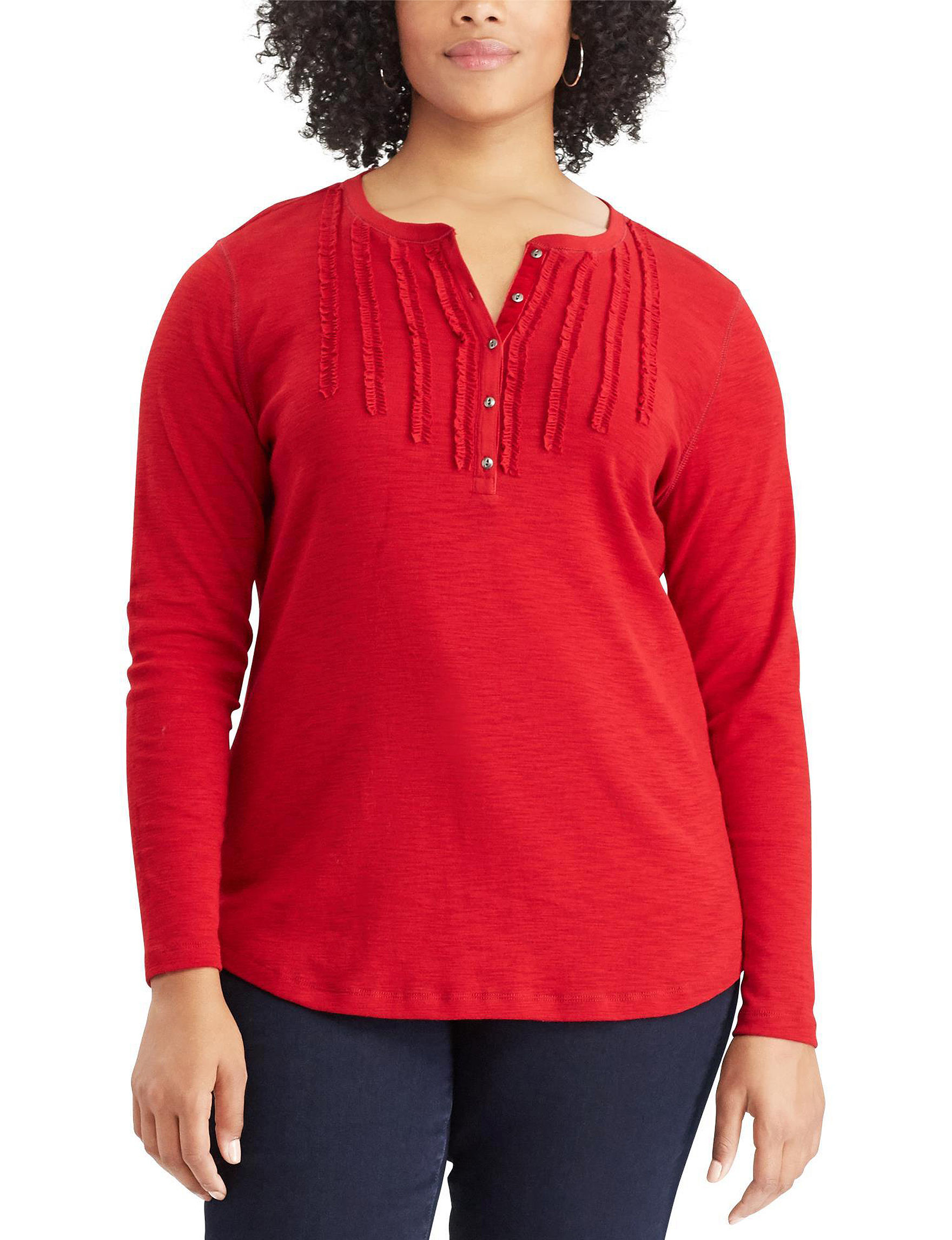 Chaps Red Shirts & Blouses